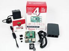 Raspberry Pi 4 Computer 4GB Ram OFFICIAL PREMIUM KIT with MicroSD 32GB (Black)