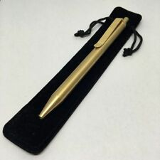 Creative EDC Cylindrical Solid Brass Automatic Ballpoint Pen