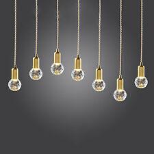 Vintage Suspendue LED Crystal Clear Ampoule &Lampe Déco Doré Plafonniers EURO