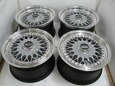 BBS RS 131/018 Jantes Alu 8,5+9x16 et56/36 Porsche 5x130 argent/Poli à! 3 pièces