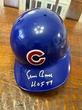 Ernie Banks Signed Full Size Batting Helmet GTSM Coa Chicago Cubs Autographed