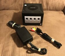 Official Nintendo GameCube Black Console & Wires! ~ Works Great! Fast Shipping!