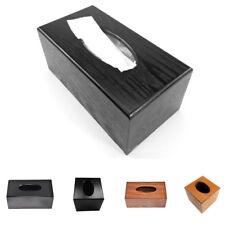 Wooden Cover Tissue Box Rectangle/Square Home Holder Dispenser Organizer
