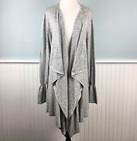 SIZE 3X Style & Co Womens Plus Gray Flyaway Soft Open Cardigan Sweater Tunic NWT