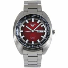 Seiko 5 Sports 100M Red Helmet Turtle Automatic Men's Stainless Steel Watch