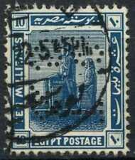 """Egypt 1921-2 SG#92, 10m Blue, """"TC&S"""" Used #D90707"""