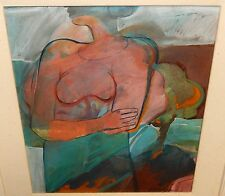 MARTA HIRNIAK VOYEVIDKA ORIGINAL WATERCOLOR FIGURE PAINTING UKRAINIAN ARTIST