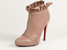 New Cesare Paciotti Taupe Leather Booties  40 US 10