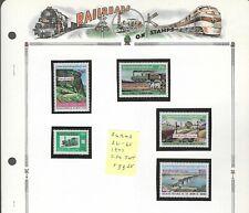 RAILROADS (A)...Burma...#261-65...Mint NH...1977...SCV $33.25