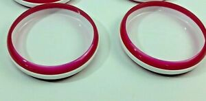 2 Pc Lot OXO Tot Plate Child White Removable Training Ring - Pink Bowl Plastic