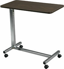 Drive Medical Hospital Senior Adutlt Non Tilt Top Overbed Labtop Desk Table
