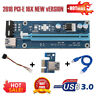 PCI-E 1x to 16x Mining Machine Extender Riser Adapter with 15Pin-4Pin Cable 60cm