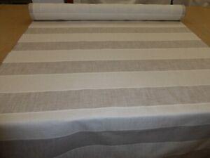 Designer Linen Upholstery Fabric (JOHN LEWIS - BRAMPTON JUMBO STRIPE NATURAL)