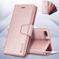 Luxury Hanman Leather Wallet Flip Case Cover For Samsung Galaxy J8 J5 J7 J2 Pro