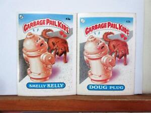 Topps UK GARBAGE PAIL KIDS 2nd series - 43a & 43b - Smelly Kelly & Doug Plug
