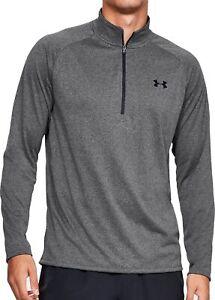 Under Armour Tech 2.0 Half Zip Long Sleeve Mens Training Top - Grey
