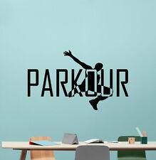 Parkour Wall Decal Extreme Sport Vinyl Sticker Gym Poster Decor Art Mural 54hor
