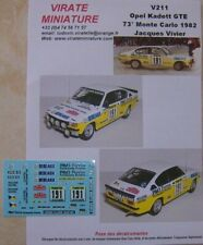 V211 OPEL KADETT GTE 73° RALLYE MONTE CARLO 1982 JACQUES VIVIER DECALS VIRATE