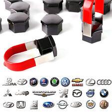 20x CACHE ECROU 19mm BOULON DE ROUE CAPUCHON CHROME NOIR PR AUTO VW Audi Skoda