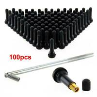 100 X TR414 Tubeless Rubber Car Wheel Tyre Valve With Metal Valve Puller Tool