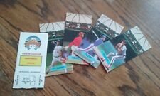 Five Cards - Leaf Inc 1986 ALL STAR GAME Fold Out Pop Up Figures - Intact