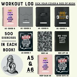 NEW FITNESS WORKOUT LOG  BOOK GYM DIARY WEIGHT TRAINING  EXERCISE JOURNAL 2021