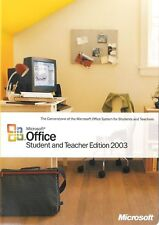 MICROSOFT OFFICE Student & Teacher Edition 2003 NO Product Key PC MS Word Excel