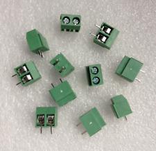 30Pcs 2 Pole 5mm Pitch PCB Mount Screw Terminal Block 10A 300V New FR
