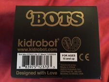 "NIB Kidrobot 10th Anniversary 3"" Black/Gold Mini 'Bot Tristan Eaton"