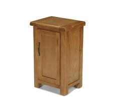 Solid Rustic Oak Small Compact One Door Cupboard Cabinet | Earlsbury Range
