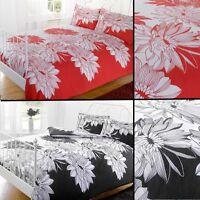 Big Bold Floral Photographic Print Duvet Quilt Cover Bedding Set & Pillowcases
