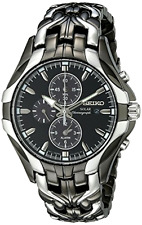 Seiko Men's SSC139 Excelsior Gunmetal and Silver-Tone Stainless Steel Solar Watc