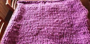 bulky super soft handmade blanket