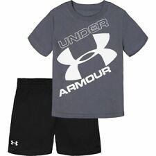NWT Under Armour Boy/'s 3 Piece Set 2 Shirts /& Shorts Various Sizes /& Colors