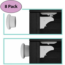 EliteBaby Magnetic Cabinet Locks, No Tools or Drilling Required! 8 Locks + 2 Key