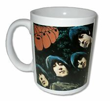 "THE BEATLES ""RUBBER SOUL"" WHITE CERAMIC COFFEE MUG COLLECTIBLE NEW NIB"