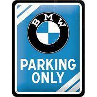 BMW Parking Only Klein Metallschild 200mm x 150mm (Na )