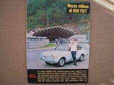 FIAT 850 COUPE 1965 TUNNEL MONT BLANC ORIGINALE PUBBLICITA WERBUNG ADVERTISING