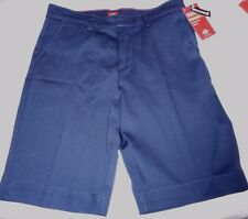 Girls Dickies Flat Front Shorts Navy Size 14 Classic Fit Bermuda NEW W TAGS