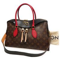 Louis Vuitton Tuileries Shoulder Bag Monogram M41454 Authentic Leather LV France