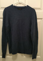 NWT Banana Republic Men's 100% Extra Fine Merino Wool Blue Sweater Medium