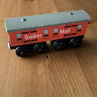 Thomas Train Wooden Railway Friends Sodor Mail Coach Long Car Vintage 2000 Britt