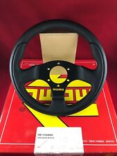 MOMO Team Tuner 280MM Black Leather Black Spoke Steering Wheel  TEA28BK0B
