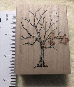 Art Impressions G-1277 Bare Tree Vintage Original Rubber Stamps 1996