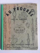 """Catalogue ancien Bronzes d'ameublement et de décoration """"Au Progrès"""""""