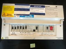 Old MK LN type PVC fuse-board -box CCU 10 Way RCD & breakers #i36