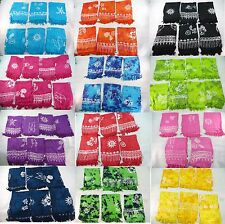 02ea3a4671717 *US SELLER*Lot of 10 wholesale rayon pareos sarong hand-stampped.