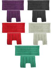 Lurex Shiny Effect 100% Cotton Heavyweight 2 Piece Bath Mat Set