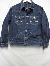 Z6451 Xray Jeans womens dark blue denim jean jacket with cream stitching size XL