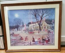 JAS. Wallace BAKER 1985 matted Framed Colonial Williamsburg Town Print James Jim